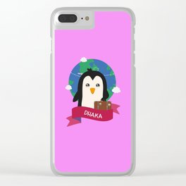 Penguin Globetrotter from DHAKA T-Shirt Clear iPhone Case