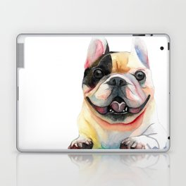 French Bulldog, Happy Dog Laptop & iPad Skin