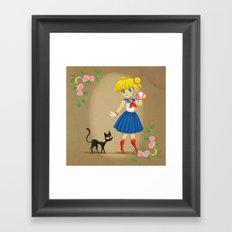 Retro Sailor Moon Framed Art Print