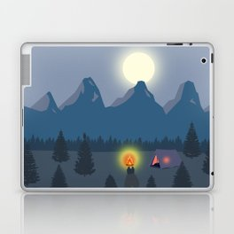 Bonfire camping in the mountains Laptop & iPad Skin