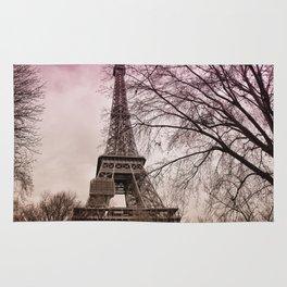 Eifel Tower Paris in pink Rug