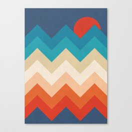 Vintage 70s Adventure on the Mountains Canvas Print