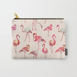 Flamingo Happiness Carry-All Pouch