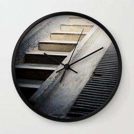 Hospital Stairwell: Sachsenhausen Concentration Camp, Oranienburg, Germany Wall Clock