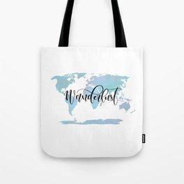 Wanderlust (blue/lilac) Tote Bag