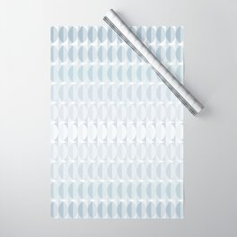 Leaves in the mist - a pattern in ice gray Wrapping Paper