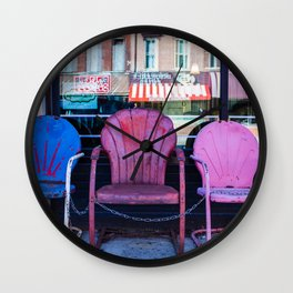 Chairs, from my street photography collection Wall Clock