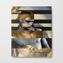 Michelangelo's Christ & Marlon Brando Metal Print