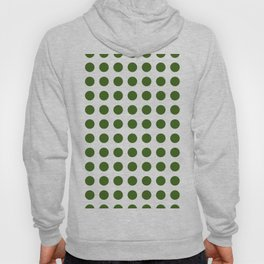 Simply Polka Dots in Jungle Green Hoody