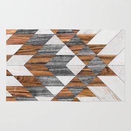 Urban Tribal Pattern 12 - Aztec - Wood Rug