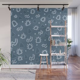 marfa, indigo shibori Wall Mural