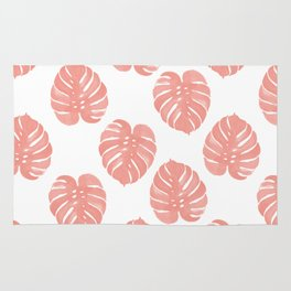 Monstera house plant minimal watercolor painting trendy gifts for anyone leaves tropical beach Rug