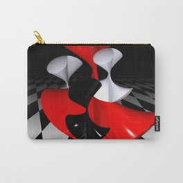 polynomails on harlekin - patterned plane Carry-All Pouch