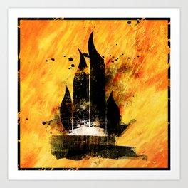 Hazard pictogram - Highly flammable Art Print