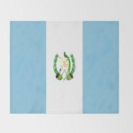 Flag of Guatemala- Guatemalan, Mixco,Villa Nueva,Petapa,tropical,central america,spanish,latine Throw Blanket