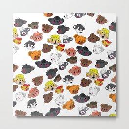 Many Beautiful Bear Faces Metal Print
