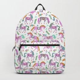 trotting unicorns Backpack