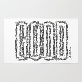GOOD by Sketches Rug
