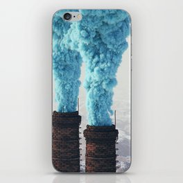 Blue Pollution iPhone Skin