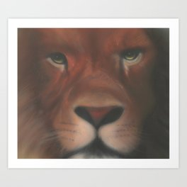 Leone aerografato - Airbrushed Lion Art Print