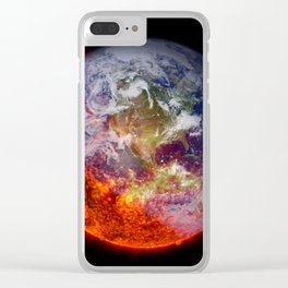 Global Warming Climate Change Clear iPhone Case