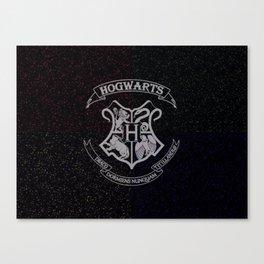 Cosmic Hogwarts Crest HP Canvas Print