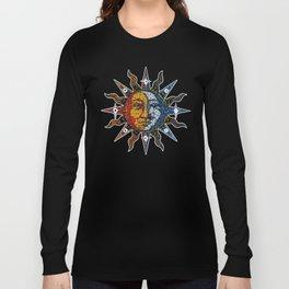 Celestial Mosaic Sun and Moon Long Sleeve T-shirt
