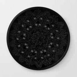 Sexy dark mandala Wall Clock