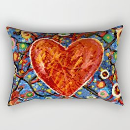 Abstract Painted Heart Rectangular Pillow