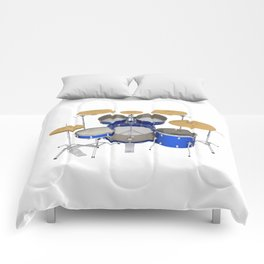 Blue Drum Kit Comforters