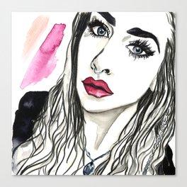 Badass Beauty Canvas Print