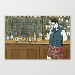 """""""Whiskey Can't Hide Its Age Either"""" by Daniel Zalkus for Nautilus Canvas Print"""