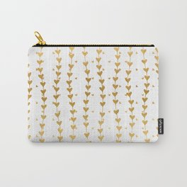 Gold Trailing Hearts Carry-All Pouch