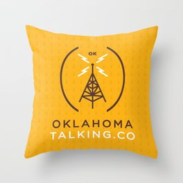 Oklahoma Talking Co.  Throw Pillow