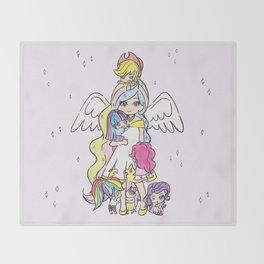 My Little Pony (chibi version) Throw Blanket