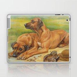 Rhodesian Ridgeback Dog portrait Safari style scene Painting Laptop & iPad Skin