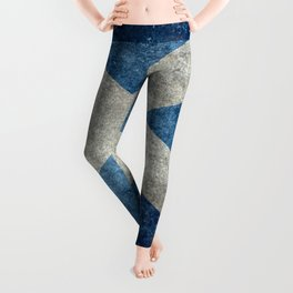 Scottish Flag - Vintage Retro Style Leggings