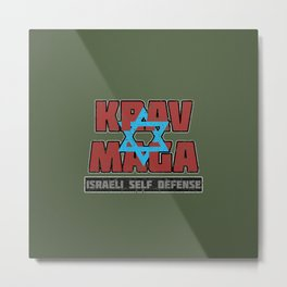Israeli Krav Maga Magen David Metal Print