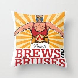 EAW's Brews and Bruises Throw Pillow