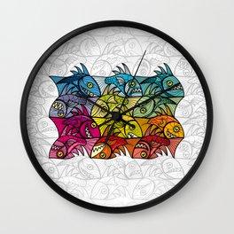 EscherFishes Wall Clock