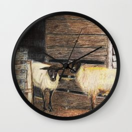 Curly and Moe Wall Clock