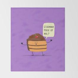 Trouble Caker! Throw Blanket