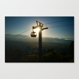 Empty cable car Canvas Print