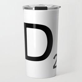 Letter D - Custom Scrabble Letter Wall Art - Scrabble D Travel Mug