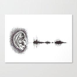 Hearing Damage Canvas Print