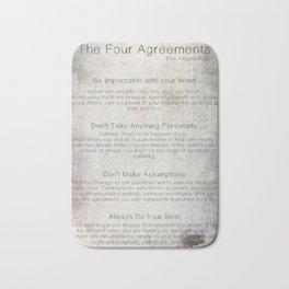 The Four Agreements 7 Bath Mat