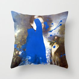 Blue Bomb Throw Pillow