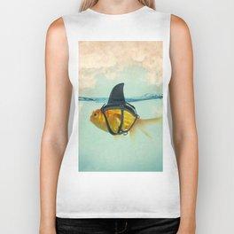 Brilliant DISGUISE - Goldfish with a Shark Biker Tank