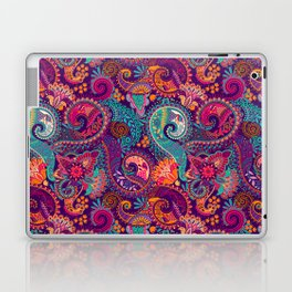 Purple Orange & Teal Floral Paisley Laptop & iPad Skin