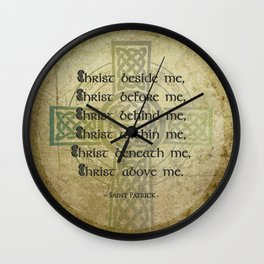 Christ Before Me ~ St. Patrick Wall Clock